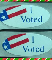 "Tim Craig's ""I Voted"" sticker."