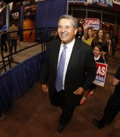 Senator Juan Vargas (D) arrives at Golden Hall, November 6, 2012.