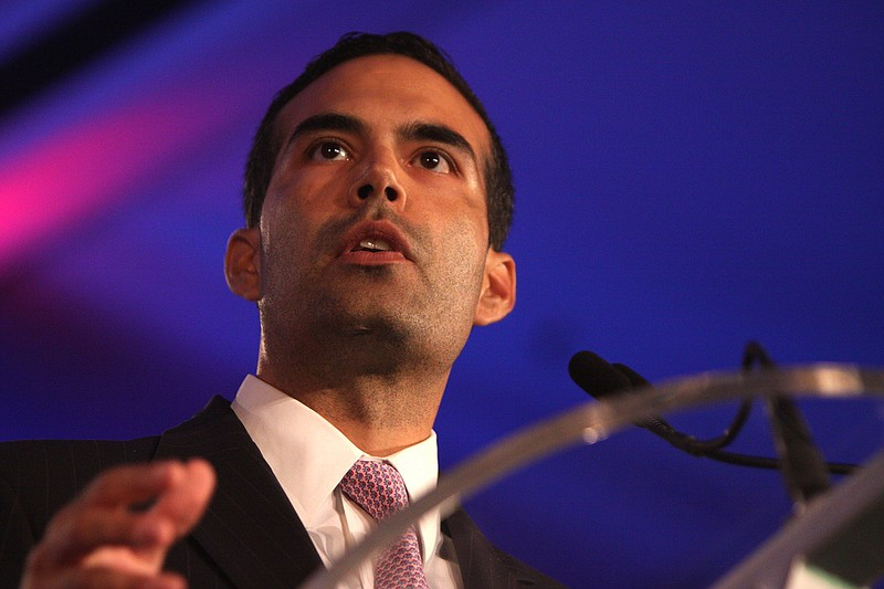 George P. Bush speaking at the Republican Leadership Conference in New Orlean...