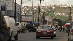 Street shot of Tijuana, Mexico and the La Mesa Penitentiary from the film