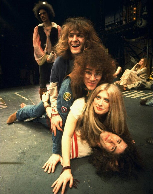 "Scene from the musical ""Hair,"" 1968."