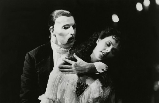 "Michael Crawford and Sarah Brightman in ""The Phantom of the Opera,"" 1988."