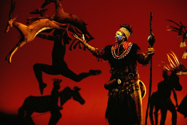 "Tsidii Le Loka as Rafiki in ""The Lion King,"" 1997."