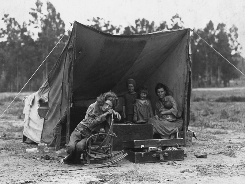 FSA photographer Dorothea Lange came across Florence Thompson and her childre...