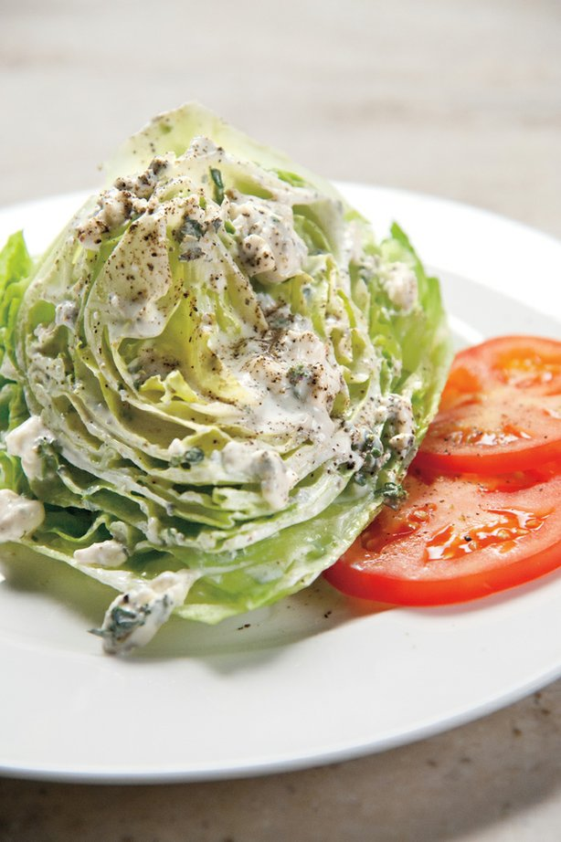 Martha Stewart makes a creamy blue cheese dressing — just the thing for drizzling onto a wedge of iceberg lettuce.