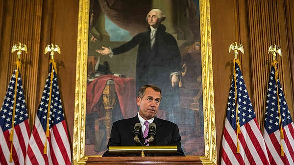 House Speaker John Boehner discusses the looming fiscal cliff on Capitol Hill...