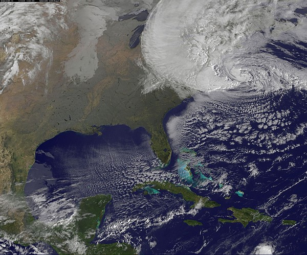 NOAA's GOES-13 satellite captured this visible image of H...