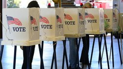 Citizens vote in Los Angeles County on Nov. 6, 2012.