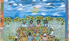 """Cotton Fields, Sunflowers, Blackbirds and Quilting Bees,"" Faith Ringgold. ©Faith Ringgold, 1997, The American Collection, #8."