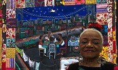 "Faith Ringgold with ""Tar Beach,"" 2011."