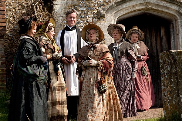 (l-r): Celia Imrie as Lady Glenmire, Barbara Flynn as Mrs. Jamieson, Alex Jen...