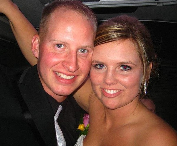 Lance Cpl. Dale W. Means and wife Andrea.