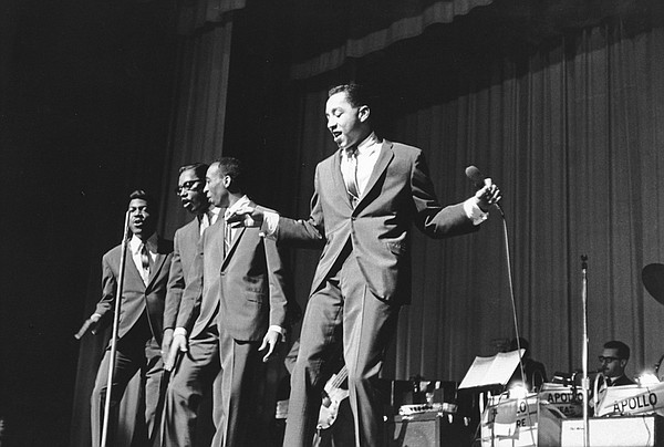 Smokey Robinson & the Miracles, seen in vintage performan...