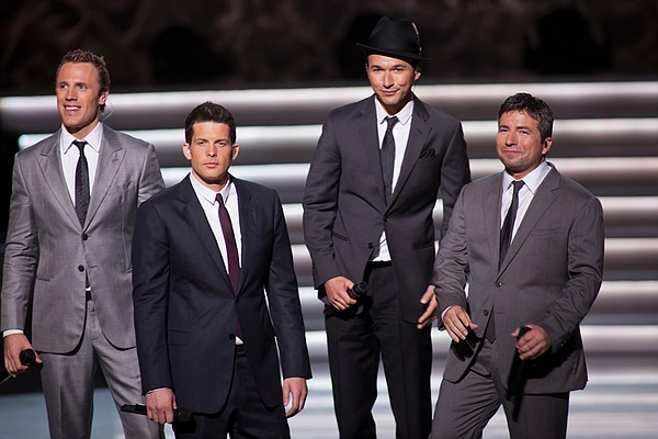 The Tenors (l-r): Fraser Walters, Clifton Murray, Victor Micallef and Remigio...