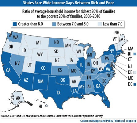 Income gap by state.