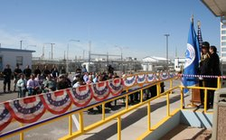 U.S. Immigrations and Customs Enforcement officials dedicate the country's first intercultural center inside an El Paso immigration detention facility in October 2012.