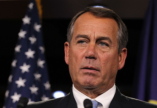 U.S. Speaker of the House Rep. John Boehner (R-OH) speaks during a news confe...