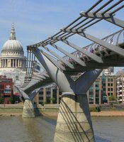 Millennium Bridge across the Thames