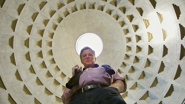 Rick Steves beneath the Oculus of the Pantheon, Rome.