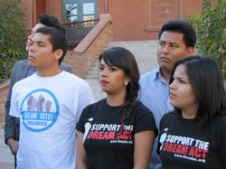 Members of the Arizona Dream Act Coalition and the coalition of civil rights ...