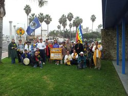 Buddhist monks join anti nuclear activists to march in protest of plans to restart one unit at San Onofre. Nov 30th 2012