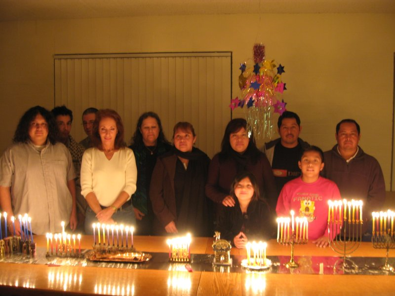Rabbi Yosef Garcia's congregation, Avde Torah Jayah, celebrates Hanukkah in 2...