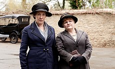 Phyliis Logan as Mrs. Hughes and Lesley Nicol as Mrs. Patmore in MASTERPIECE ...