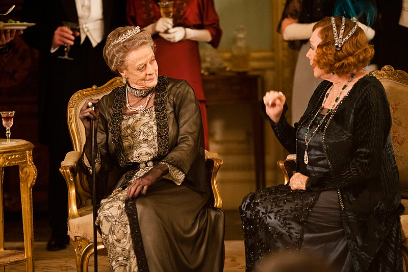 Maggie Smith as Lady Violet Crawley and Shirley MacLaine as Martha Levinson i...