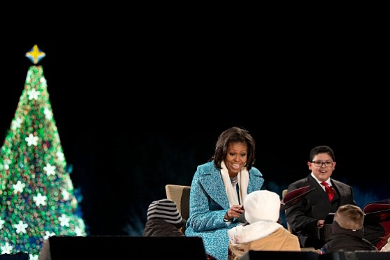 "First Lady Michelle Obama reads ""'Twas the Night Before C..."