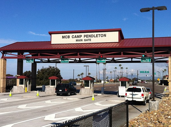 Camp Pendleton main gate.