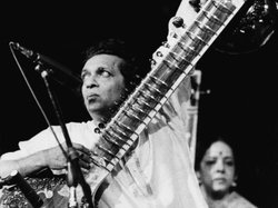 Musician Ravi Shankar performs at the Concert For Bangladesh benefit at Madis...