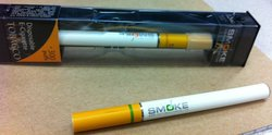 Two South Beach Smoke disposable electronic cigarettes.