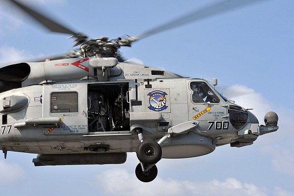MH-60R Seahawk helicopter.