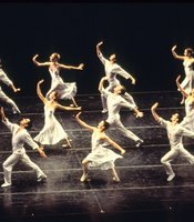 """""""Sometimes It Snows in April,"""" choreographed by Laura Dean, from the Joffrey Ballet's """"Billboards"""" rock ballet set to the music of Prince."""
