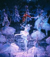 "A still from ""Waltz of the Snowflakes"" in the Joffrey Ballet's production of ""The Nutcracker."""