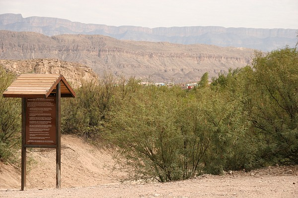 The village of Boquillas, Mex., as seen from a path leading from the Rio Gran...