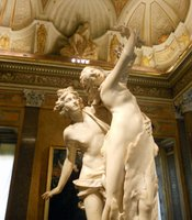 "Bernini's ""Apollo Chasing Daphne"" in the Borghese Gallery."