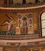 Mosaics in the Church of Santa Maria in Trastevere.