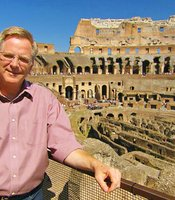 Rick Steves inside the Colosseum, Rome.