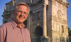 Rick Steves at the Roman Forum.