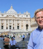 Rick outside St. Peter's, Vatican City.