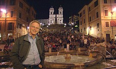 Rick Steves at the Spanish Steps.