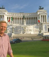Rick at the Victor Emmanuel Monument, Rome.