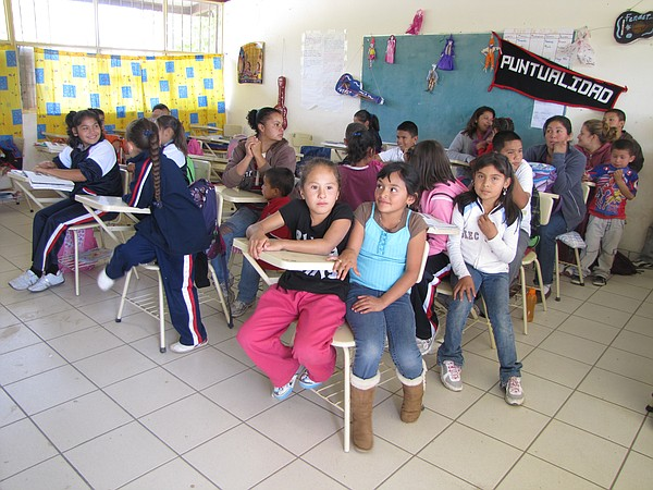 A classroom of students in the state of Zacatecas. Most of the children spent...