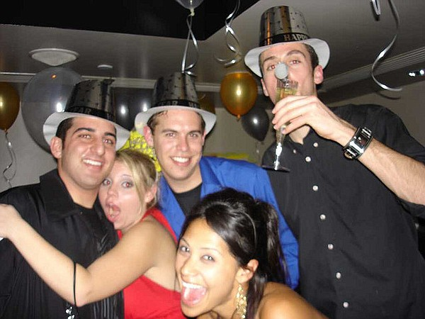 Partiers at the Yard House in San Diego's Gaslamp on New Year's Eve.