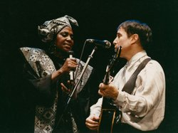 Miriam Makeba and Paul Simon.