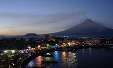 The town of Gilazpi was evacuated when Mayon Vo...