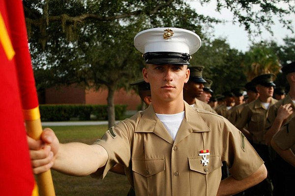 Marines in uniform.