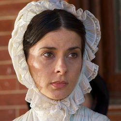 Jeanine Serralles as Angelina Grimké, a prominent Southern abolitionist.