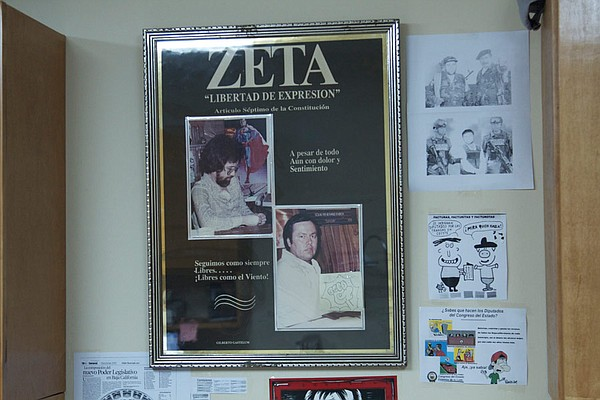 Images of original Zeta co-directors Jesus Blancornelas a...